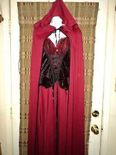 Gorgeous Vampire Dress w/ Cape Halloween Costume. Sz. Adult Lg.