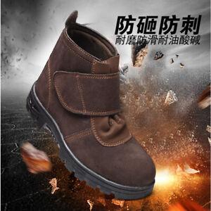 Men's Welder Steel Toe Welding Boots Waterproof Work Safety Shoes Slip Resistant
