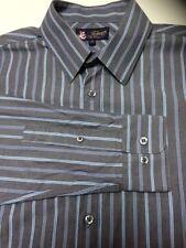 Topman Striped Button Cuff Formal Shirts for Men