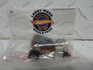 Hot Wheels Larry Wood World Tour Red Tooned Shift Kicker Baggie Car
