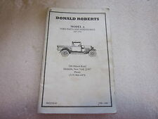 1998-1999 Ford Parts and Accessories for Model A catalog Donald Roberts Mohawk