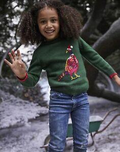Joules Boys The Cracking Festive Mini Me Jumper  - Green Pheasant