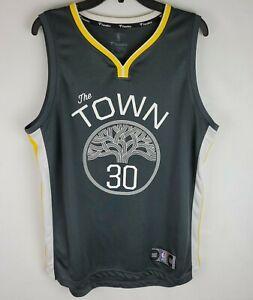 Steph Stephen Curry Warriors Fanatics The Town Jersey Grey White Yellow Medium