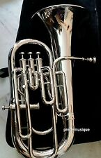 Euphonium 4 Valve W CAS MOUTHPECE Made of Pure Bras FULY Functional