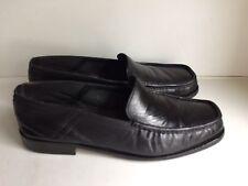 Designer Charles Jourdan Homme en Cuir Noir À Enfiler Mocassin Chaussures-Taille 9.5