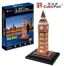 Puzzle cubic Fun 28 piezas-puzzle 3d con LED-londres: Big Ben (41350)