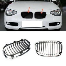 For BMW F20 F21 114B 118B 116I 125B 2011-2015 2PCS Chrome Front Grill Grille