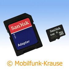 Tarjeta de memoria SanDisk MicroSD 4gb para LG p970 Optimus black
