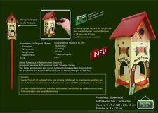 B-Ware Futterhaus Vogelhotel mit Ständer und Nistkasten  Vogelhaus Vogelvilla