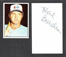 Hal Breeden ( Debut 1971 ) CUBS EXPOS  SIGNED AUTOGRAPH AUTO 3x5 INDEX COA