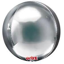 Silver Foil Balloon Round Orbz 40cm Metallic Wedding Baby Shower Party Helium
