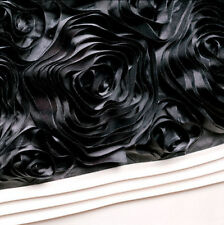 PRIVATE COLLECTION VALENTINA BLACK Roses Pillowcase 48 x 74cm  NEW
