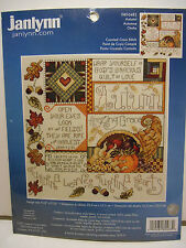 "Janlynn ""Autumn"" Fall Harvest Counted Cross Stitch Kit #080-0483 ~ NEW!"