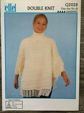 Elle Knitting /& Crochet Pattern: Ladies Ponchos One Size Q4312 DK
