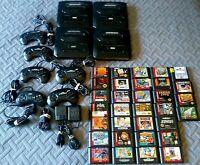 Vintage Sega Genesis Mega Lot Of 47 Consoles, Controllers, Games, RF Units, More