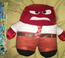 "12"" ANGER ANGRY RED SQUARE PLUSH DRESS SHIRT NECK TIE INSIDE OUT MOVIE NEW NWOT"
