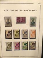 À VOS OFFRES ! [723] COLONIE collection timbres AOF fraîcheur postale oblitérés