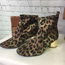 Katy Perry Block Heeled Ankle Boots Daina Women Size 6 QVC Leopard