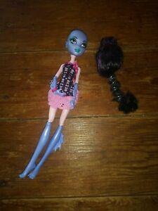 Monster High doll  purple Fish sea monstercute outfit black wig