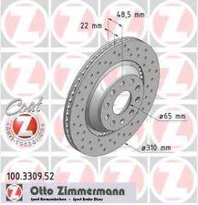 Disque de frein arriere ZIMMERMANN PERCE 100.3309.52 VW GOLF VI 5K1 1.6 102ch