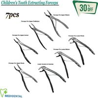 Set Of 7 Surgical Extraction Instruments Children Tooth Extracting Forceps Kit