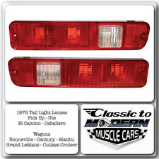 El Camino Tail Light Housing / Lenses / Caballero G Body Wagons Only 1978 Models