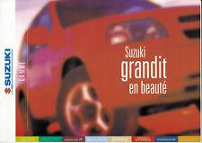 Suzuki-modèle programme-voitures-prospectus - 1999-France-NL-Correspondance