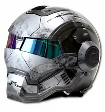 Motorcycle Retro Open Face IRON MAN Half Helmet Gray 610 ABS Casque Motocross