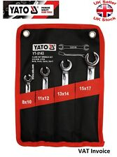 Yato Professional Heavy Duty Flare Nut Wrench Spanner Set 8sizes 8-17mm YT-0143