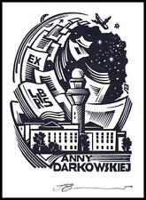 Leonenko Vasyl 1998 Exlibris X3 Okęcie Airport Warsaw Plane Architecture 871