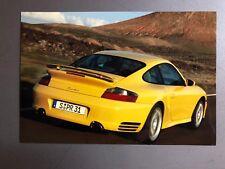2000 Porsche Turbo Coupe Full Color Werkfoto Press Photo Factory Issued RARE RR