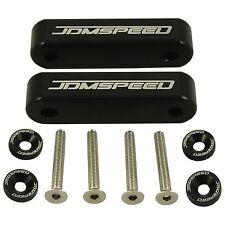 Black Jdm Hood Spacer Risers Set For 90-01 Acura Integra 88-00 Honda Civic Crx(Fits: Honda)