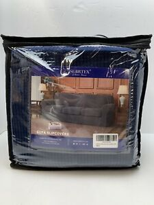 Subrtex 4 Piece Jacquard Sofa Couch Slipcover Navy Blue Color - Free US Shipping
