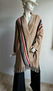 RRP €395🌟✨ MAX MARA Camel Brown  ALPAKA Blend Cardigan   size XL