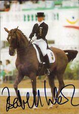 Isabell Werth Deutschland Olympia Gold 1992 Reiten original Autograph (Flo-7574