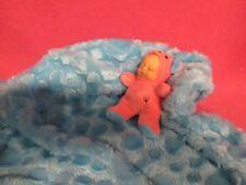 "MINIATURE BUNDLE BABY PINK BLUE BEAR 4-1/2"" PLUSH STUFFED DOLL NEWBORN KEEPSAKES"