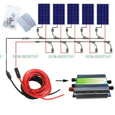 500W OFF GRID COMPLETE KIT:  5*100W PV Poly Solar Panel for 12V System RV Boat