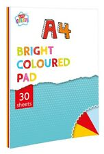 Bright Coloured Paper 30 Page Primary Colour A4 Kids Drawing Craft Pad Book PABW