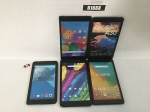 LOT OF 5 DUMMY DISPLAY TABLETS VARIOUS ALCATEL ZTE B1668