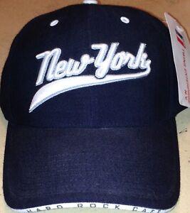 Hard Rock Cafe NEW YORK Black Baseball HAT CAP Rare Pre-Production Sample
