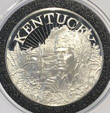 1973 Commonwealth Of Kentucky 33 Gram .925 Fine Sterling Silver Coin Round Medal