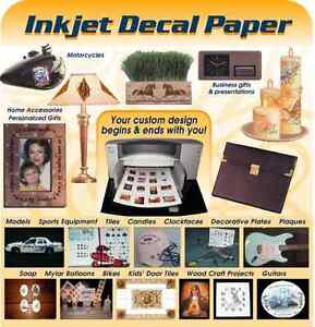 5 Blatt transparente Decal Folie für Tintenstrahldrucker
