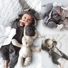 LK _ eg _ Recién Nacido Bebé Niña Niño Conejo 3d Orejas traje una pieza BODY