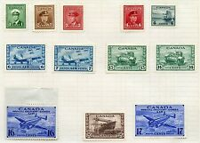 Weeda Canada 249/260, C7//CE1 F-VF MH War Issue singles with BOB CV $53.20