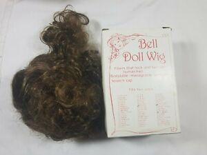 Bell Ceramics Doll Wig Autumn Light Brown Size: 11-12 NIB
