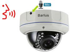 2MP MIC Audio FullHD Anti-Riot nachtsicht PoE DOME Innen IR Onvif CCTV IP-Kamera