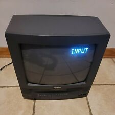 "Vintage Sharp 13"" TV VCR Combo Retro Gaming Television CRT 13VT-K100"