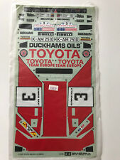 NOS Original Tamiya Toyota Celica Kit 5864 Decals 1/10 RC NEW decalsheet 1987