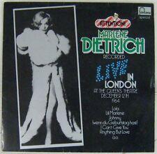 Marlène Diétrich 33 tours Live in London