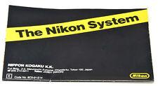 NIKON System Guide A2 Folded - F3 Era - English -